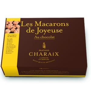 Macarons de Joyeuse aux pépites de chocolat noir (Boite 300g)